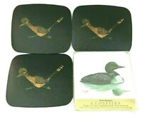 Mid Century Modern Couroc Road Runner and Duck Vintage Drink Coasters