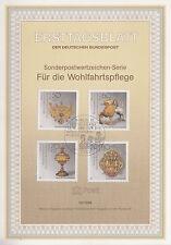 TIMBRE FDC ALLEMAGNE  BERLIN  OBL ERSTTAGSBLATT CHEFS D OEUVRE ORFEVRERIE  1988