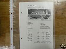 AD2-AUDI 100, 100S, 100LS 1969-1971 -TECHNICAL INFO