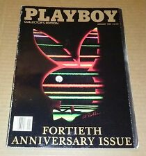 Playboy Magazine JANUARY 1994 FORTIETH ANNIVERSARY ISSUE, ANNA-MARIE GODDARD