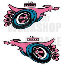 Ford XY GT SUPER ROO PINK Large Decal  - Stickers