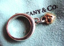 Tiffany & Co. 925 silver & 18k gold vintage 1994 heart lock ring. Size 3 RARE