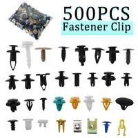 500PCS Auto Car Mixed Fastener Clip Bumper Fender Trim Plastic Rivet Door Panel