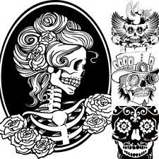 DIY Removable Wall Sticker Skull Vinyl Decal Halloween Home Decor Mural Art