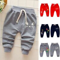 Infant Toddler Baby Girl Boy Fashion Cartoon Letter Print Pants Sports Trousers
