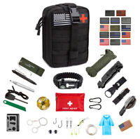 Emergency Survival Kit 50 Pc Survival Gear Tactical IFAK First Aid Kit