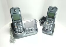 Panasonic KX-TG4131 Cordless Home Phone Answering Machine w/ 2 Handsets