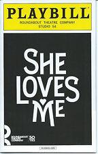 SHE LOVES ME Playbill JANE KRAKOWSKI (30 ROCK) LAURA BENANTI ZACHARY LEVI