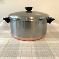 Revere Ware 4 1/2 Quart Copper Clad Stainless Steel Stock Pot With Lid USA