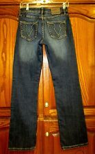 COWGIRL UP PLAY DON'T FENCE ME IN MED BOOT JEAN TAG SZ 2/W27/ACTUAL SZ 27.5X32.5
