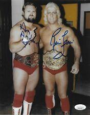 RIC FLAIR & ARN ANDERSON NWA WWE WCW SIGNED AUTOGRAPH 8X10 PHOTO JSA COA