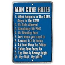 Parking Sign - Man Cave Rules Wall Art Home Decor Picture Gift