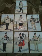 Set x 7 Military Postcards 1st bn Royal Irish Regiment by Alix Baker