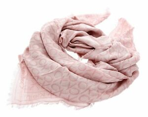 Calvin Klein CK Mono J Scarf Tuch Accessoire Pink Rosa Neu