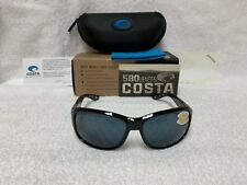 35657566122 NEW Costa Del Mar Inlet Polarized Sunglasses Shiny Black Gray 580P IT 11  OGP 580
