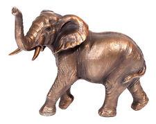 Bronze Elephant Figurine Statue Ornament Sculpture Trunk Up
