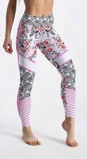 Women's Skull & Flowers Pink Leggings