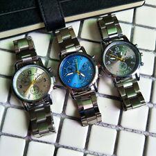 Men's Analog Quartz Dial Wrist Watch Teenager Casual Stainless Steel Wristwatch