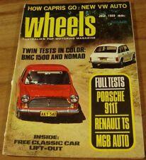 1969.WHEELS.PORSCHE 911T.MGB.Renault.BMW.CAPRI GT.PACER.HT KINGSWOOD.Riley IMP