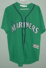 SEATTLE MARINERS TEAM JERSEY ALTERNATE TEAL MAJESTIC COOL BASE ADULT