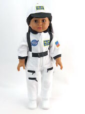 "White NASA Jumpsuit Outfit Fits 18"" American Boy or Girl Doll Clothes"