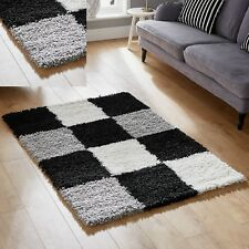 BLACK GREY BEST QUALITY SOFT 5CM PILE SHAGGY SMALL 60x120cm MODERN RUG SALE