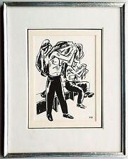 Frans Masereel: trabajadores en el vestuario tuschezeichnung 1920er años rara vez