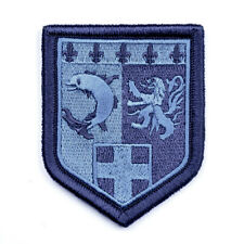 Ecusson G.N. Région Rhône-Alpes Basse Visibilité Brodé Bleu