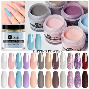 10g Mtssii Nail Dip Dipping Powder Dust Pigment Shimmer Acrylic Tips Decoration