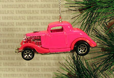 3-WINDOW '34 FORD COUPE 1934 PINK CHRISTMAS ORNAMENT XMAS