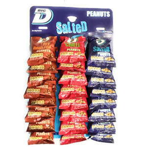 Big D Nuts | Mixed Pub Card 24x50g | 8x Salted - 8x Dry Roasted - 8x Chilli)
