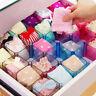 Plastic Underwear Tie Bra Socks Storage Box Organizer Case Desks Drawer Divider