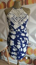 BNWT SUNNYFAIR COLLECTION SUN DRESS Size 10/12 RETRO  STYLE CROCHET  WHITE