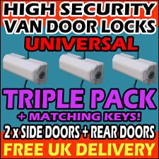 RENAULT TRIPLE PACK SET High Security Van Locks = 2 x Side + 1 x Rear Barn Doors