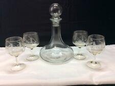 Javit Crystal - Vintage Collection - five piece Crystal Brandy Set