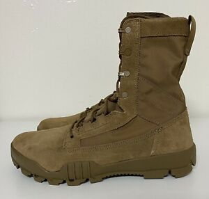 """Nike SFB Jungle 8"""" Leather Coyote Mens Sz 10 Military Tactical Boots 828654-900"""