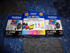 5 Genuine Brother LC41CL Color & 2 LC41BK Black Ink Cartridges Combo Set Sealed