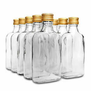 10 pocket flask bottles 200ml with  screw caps for Wine, Whisky or Spirits