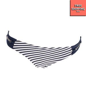 HEIDI KLUM SWIM Bikini Bottom Size 8 / XS Striped Pattern Chain Trim Fully Lined
