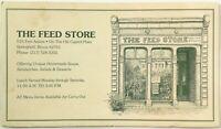 Vintage Original Menu THE FEED STORE RESTAURANT Springfield IL Capitol Plaza