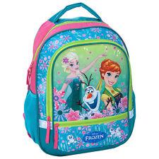 Disney Frozen Backpack School Bag Gym Travel Holiday Bag Girls Green Anna Elsa