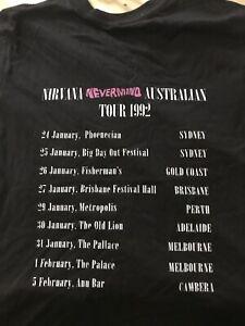 Nirvana 1992 Australian Tour Shirt Size L