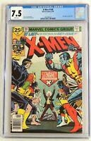 Uncanny X-Men #100. CGC 7.5 VF-, New X-Men vs. Old X-Men