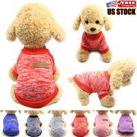 Pet Dog Cat Winter Warm Fleece Vest Clothes Coats Shirt Puppy Sweater Apparel