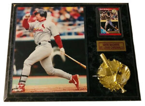 """Vintage Mark McGwire St Louis Cardinals Plaque 15""""x12"""" With Baseball Card"""