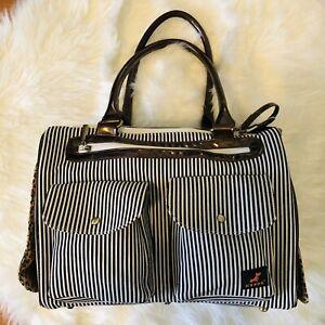 Kenox Fashion Dog Cat Pet Carrier Bags Travel Mesh Tote Handbag Stripe