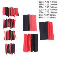 127Pcs Weatherproof heat shrink sleeving tubing tube assortment kit black glODUS