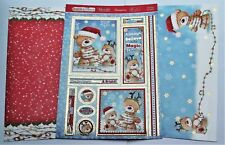 New 2020 Hunkydory Trimming Up Teddy Christmas Toppers & Card Kit
