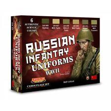 LIFECOLOR LFCS42 RUSSIAN INFANTRY UNIFORMS WWII - COLOUR SET