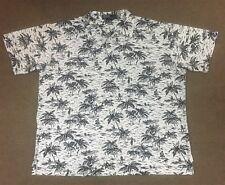 Polo Ralph Lauren Collared Polo Shirt Hawaiian Print White/Navy Blue Adult XL